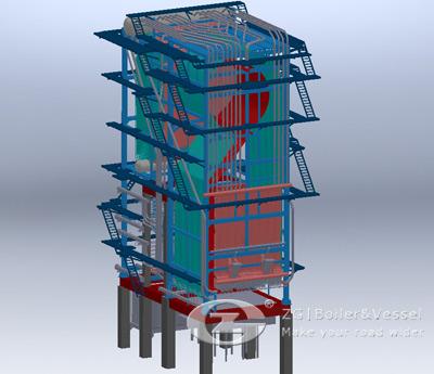 Inner CFB Boiler Structure